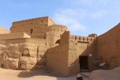 Vista do castelo de Narin, Irã imagens de stock