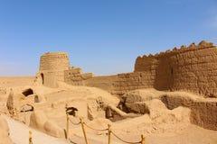 Vista do castelo de Narin, Irã imagem de stock