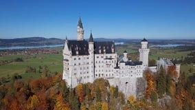 Vista do castelo de Neuschwanstein, Baviera, Alemanha filme