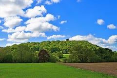 Vista do castelo 2 de Peckforton, na fuga do arenito, Cheshire imagens de stock