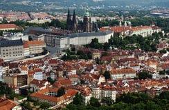 Vista do castelo de Praga fotografia de stock royalty free