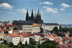 Vista do castelo de Praga fotos de stock royalty free