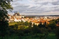 Vista do castelo de Praga imagem de stock