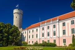 Vista do castelo de Toompea em Tallinn Imagens de Stock