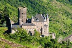 Vista do castelo do katz do burg imagem de stock royalty free