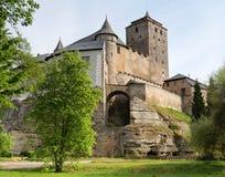 Vista do castelo do kost do hrad Fotos de Stock