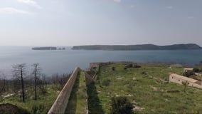Vista do castelo medieval video estoque