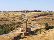 Vista do castelo Segovia Fotografia de Stock Royalty Free