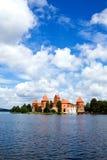 Vista do castelo Trakai do beautifu Fotografia de Stock Royalty Free