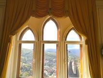 Vista do castelo Wernigerode fotos de stock royalty free
