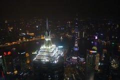 Vista do centro financeiro de mundo de Shanghai Imagens de Stock
