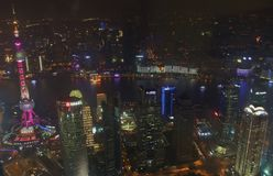 Vista do centro financeiro de mundo de Shanghai Fotos de Stock