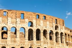 Vista do Colosseum ou do coliseu foto de stock royalty free