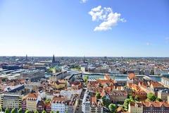 Vista do Copenhaga, Dinamarca fotos de stock royalty free