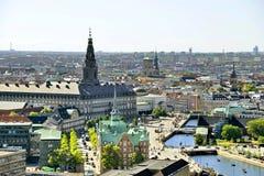 Vista do Copenhaga, Dinamarca fotografia de stock royalty free