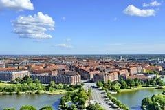 Vista do Copenhaga, Dinamarca imagens de stock