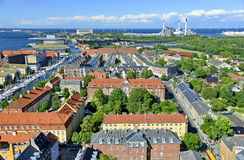 Vista do Copenhaga, Dinamarca Foto de Stock Royalty Free