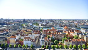Vista do Copenhaga, Dinamarca Imagem de Stock Royalty Free