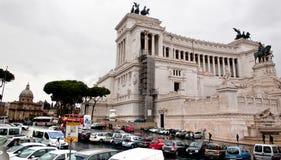 Vista do della Patria de Altare em Roma, Itália Foto de Stock