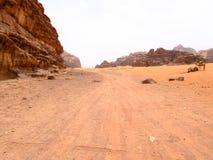 Vista do deserto de Wadi Run em Jordânia imagem de stock royalty free