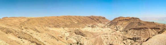 Vista do deserto vermelho em Israel fotografia de stock