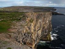 Vista do Dun Angus, Inishmore, Ireland Imagens de Stock