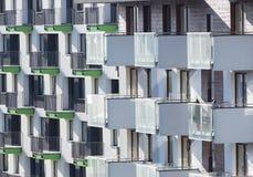 Vista do edifício residencial fotos de stock royalty free