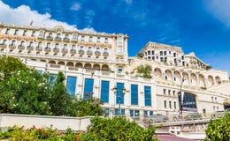 Vista do eremitério do hotel em Monte - Carlo, Mônaco imagens de stock royalty free