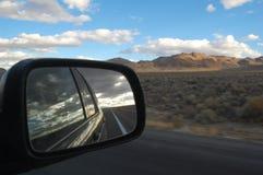Vista do espelho de carro Imagem de Stock