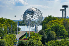 Vista do estádio de Ashe autor em Flushing Meadows Corona Park foto de stock royalty free