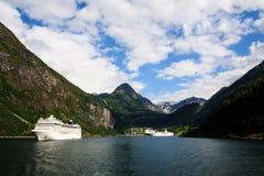 Vista do fiorde de Geiranger, Noruega Fotos de Stock