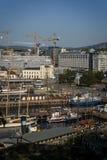 Vista do fiorde de Oslo e do porto de Oslo, Oslo, Noruega imagem de stock royalty free
