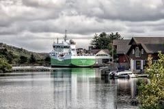 Vista do fiorde em Bomlo em Noruega foto de stock