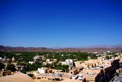 Vista do forte de Nizwa, Omã Imagem de Stock
