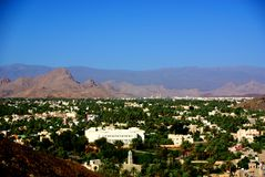 Vista do forte de Nizwa, Omã Fotos de Stock