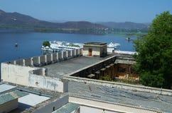 Vista do forte de Udaipur fotografia de stock