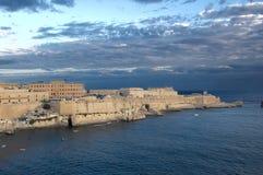Vista do forte St Elmo - Valletta - Malta Fotografia de Stock