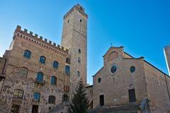 Vista do gimignano de san, Toscânia, Italy. Imagem de Stock Royalty Free