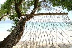 Vista do hammock fotografia de stock