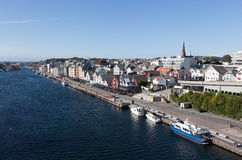 Vista do Haugesund noruega Imagens de Stock
