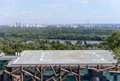 Vista do heliporto Fotos de Stock