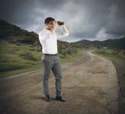 Vista do homem de negócios Foto de Stock