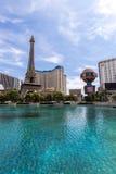 Vista do hotel de Paris Las Vegas e do casino, LAS VEGAS, EUA Foto de Stock Royalty Free