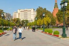 Vista do hotel de quatro estações, Moscou, Rússia fotos de stock royalty free