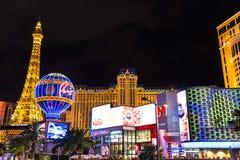 Vista do hotel e do casino de Paris Las Vegas na noite, LAS VEGAS, EUA Imagem de Stock Royalty Free