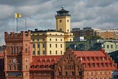 Vista do hotel Marina Tower da elite perto do centro da cidade do sueco Foto de Stock Royalty Free