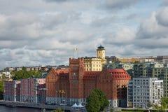 Vista do hotel Marina Tower da elite perto do centro da cidade do sueco Fotografia de Stock Royalty Free