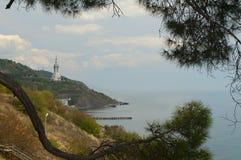Vista do igreja-farol Imagem de Stock Royalty Free