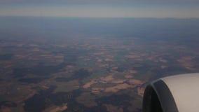 Vista do indicador do avi?o Céu e paisagem bonita video estoque