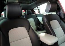 Vista do interior da foto panorâmico do estoque do teto-solar do carro Fotos de Stock